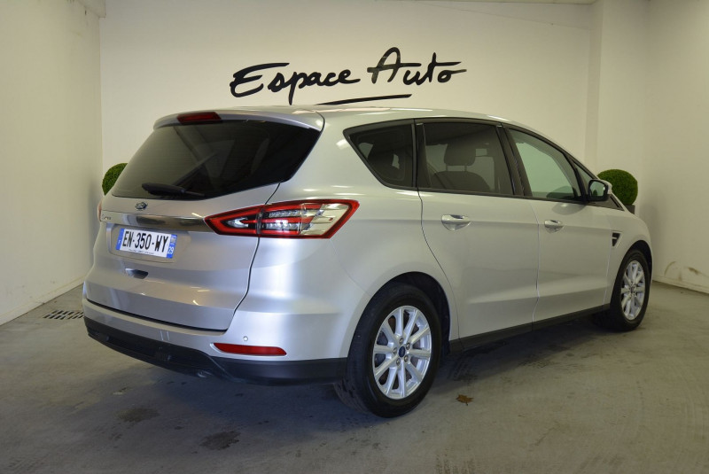 Ford S-max 2.0 TDCI 150CH STOP&START BUSINESS NAV POWERSHIFT Gris occasion à Quimper - photo n°2