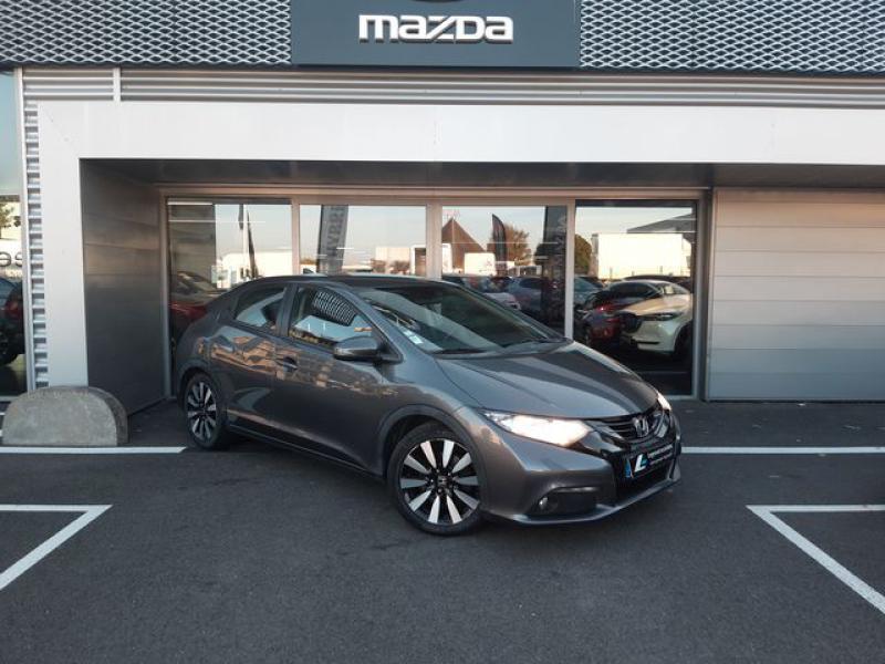 Honda Civic 1.6 i-DTEC 120ch Elegance Argent occasion à Cesson-Sévigné - photo n°2