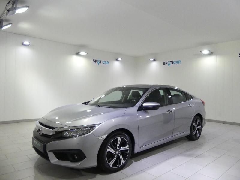Honda Civic 1.6 i-DTEC 120ch Exclusive AT 4p Gris occasion à Quimper - photo n°1