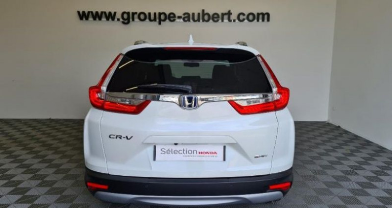 Honda CR-V 2.0 i-MMD 184ch Exclusive 2WD AT Blanc occasion à TOURLAVILLE - photo n°5