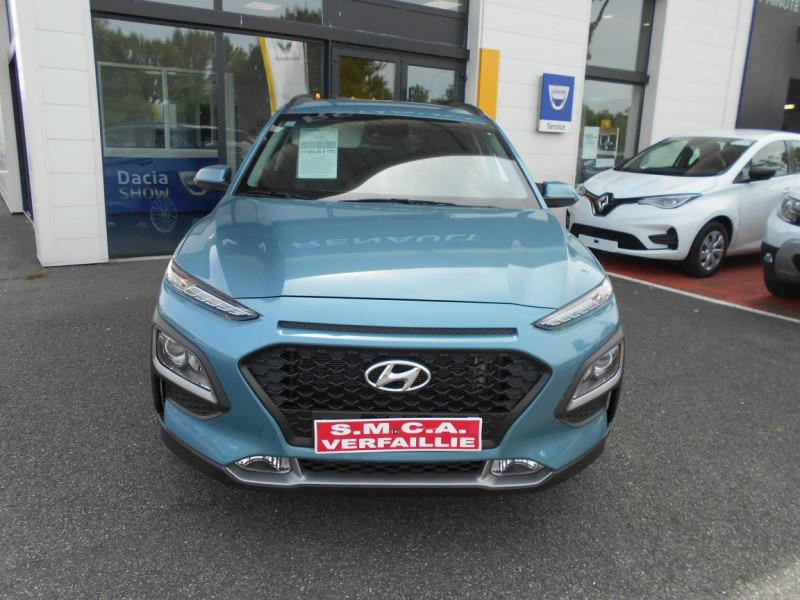 Hyundai Kona 1.0 T-GDi 120 Intuitive Bleu occasion à Bessières - photo n°5