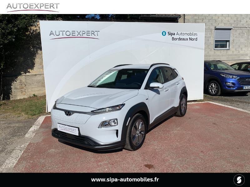 Hyundai Kona Electric 136ch Creative Euro6d-T EVAP 2cv Blanc occasion à Le Bouscat