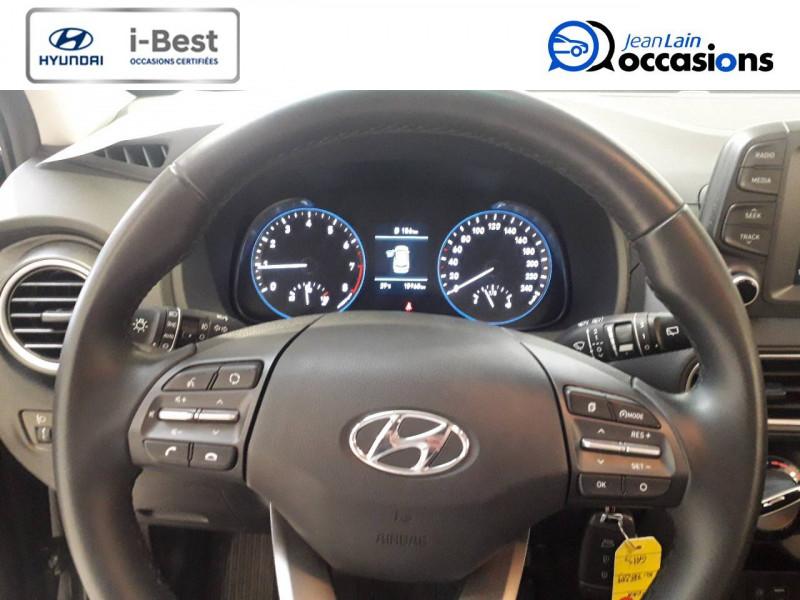 Hyundai Kona Kona 1.0 T-GDi 120  5p Gris occasion à Crolles - photo n°3