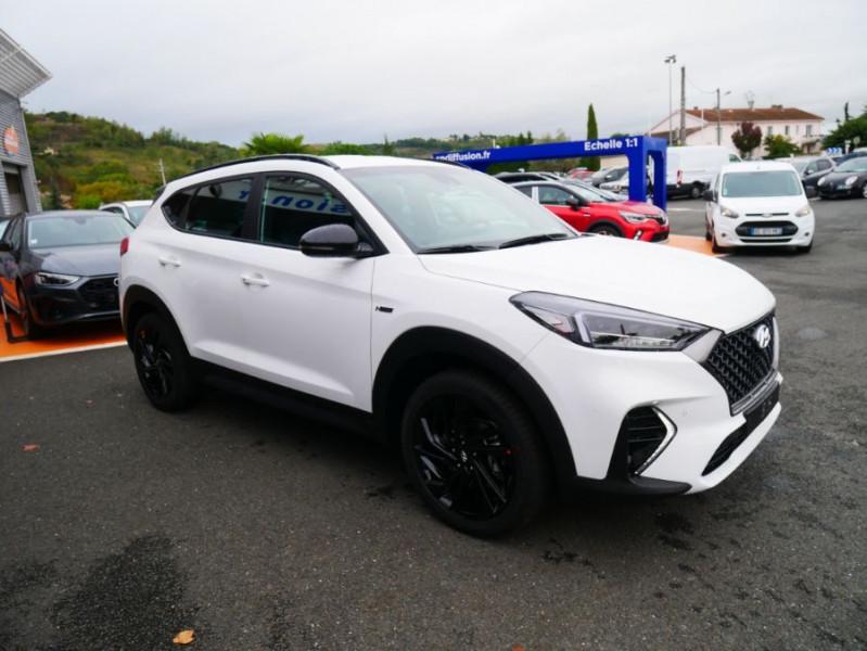 Hyundai Tucson 1.6 CRDI MILD-HYBRID48V 136 DCT7 N LINE EDITION GPS JA19 Blanc occasion à Cahors - photo n°10