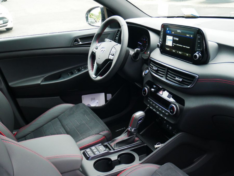 Hyundai Tucson 1.6 CRDI MILD-HYBRID48V 136 DCT7 N LINE EDITION GPS JA19 Blanc occasion à Cahors - photo n°9