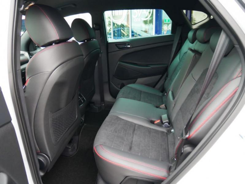 Hyundai Tucson 1.6 CRDI MILD-HYBRID48V 136 DCT7 N LINE EDITION GPS JA19 Blanc occasion à Cahors - photo n°4