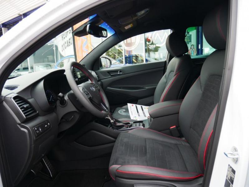 Hyundai Tucson 1.6 CRDI MILD-HYBRID48V 136 DCT7 N LINE EDITION GPS JA19 Blanc occasion à Cahors - photo n°3