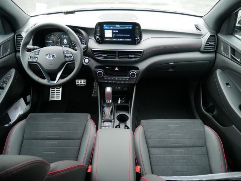 Hyundai Tucson 1.6 CRDI MILD-HYBRID48V 136 DCT7 N LINE EDITION GPS JA19 Blanc occasion à Cahors - photo n°13