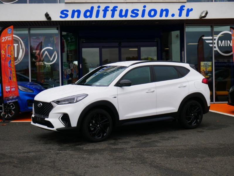 Hyundai Tucson 1.6 CRDI MILD-HYBRID48V 136 DCT7 N LINE EDITION GPS JA19 Blanc occasion à Cahors