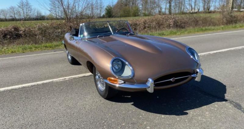 Jaguar E-Type TYPE-E 3.8 Série 1 Cabriolet 1964 Bronze occasion à Saint-saturnin - photo n°2