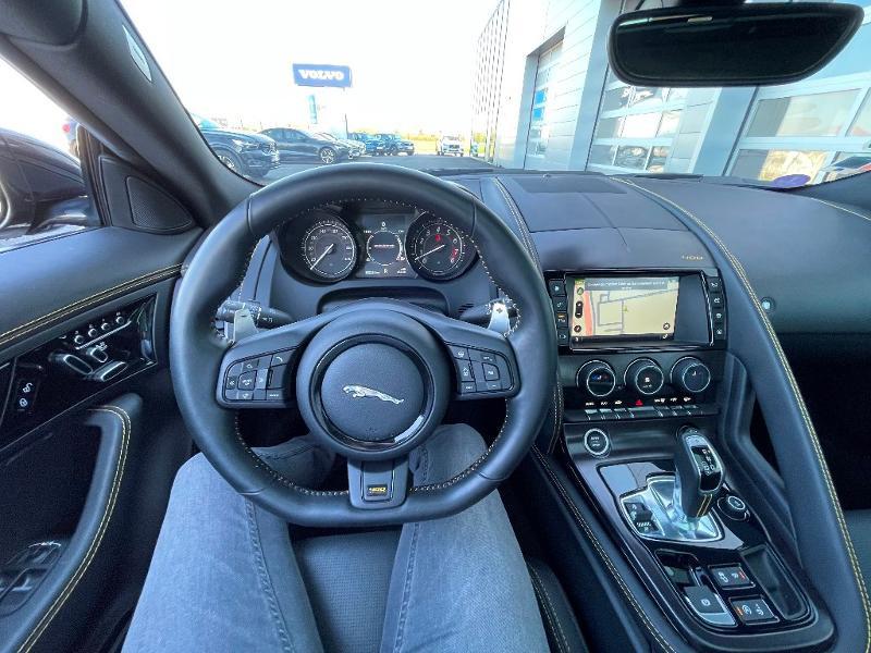 Jaguar F-Type 3.0 V6 Suralimenté 400ch Sport AWD BVA8 Noir occasion à Barberey-Saint-Sulpice - photo n°14