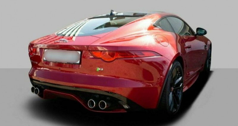 Jaguar F-Type Coupe 5.0 V8 550ch R BVA8 Rouge occasion à Boulogne-Billancourt - photo n°2