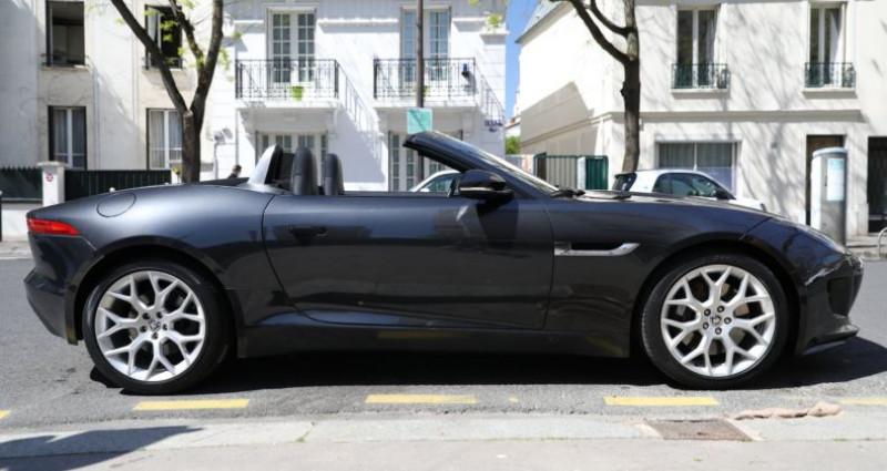 Jaguar F-Type JAGUAR F TYPE V6 340 AUTO SUPERBE Noir occasion à Paris - photo n°6
