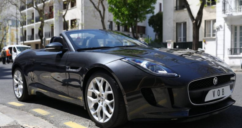 Jaguar F-Type JAGUAR F TYPE V6 340 AUTO SUPERBE Noir occasion à Paris - photo n°4