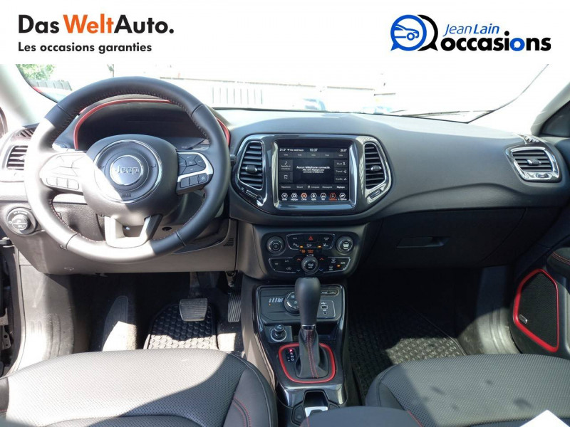 Jeep Compass Compass 1.3 GSE T4 240 ch PHEV AT6 4xe eAWD Trailhawk 5p Gris occasion à Sallanches - photo n°18