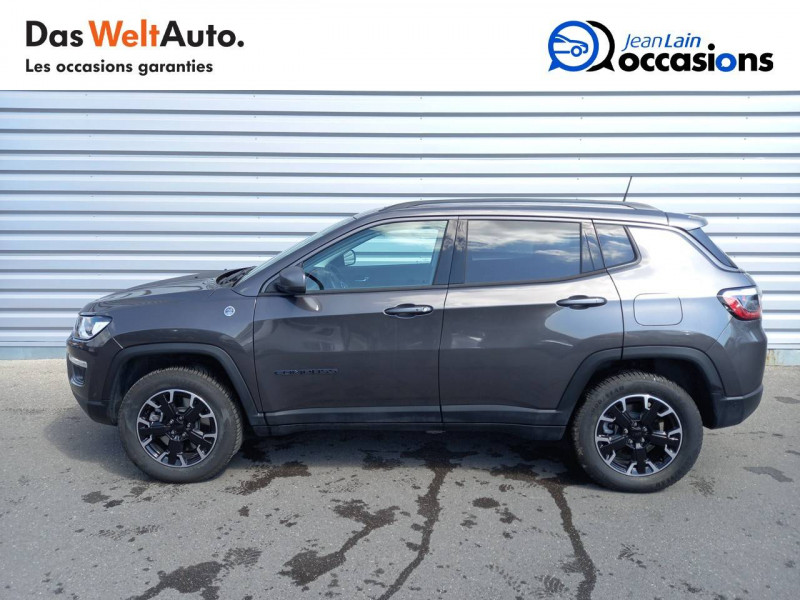 Jeep Compass Compass 1.3 GSE T4 240 ch PHEV AT6 4xe eAWD Trailhawk 5p Gris occasion à Sallanches - photo n°8