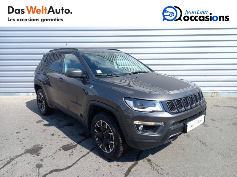 Jeep Compass Compass 1.3 GSE T4 240 ch PHEV AT6 4xe eAWD Trailhawk 5p Gris occasion à Sallanches - photo n°3