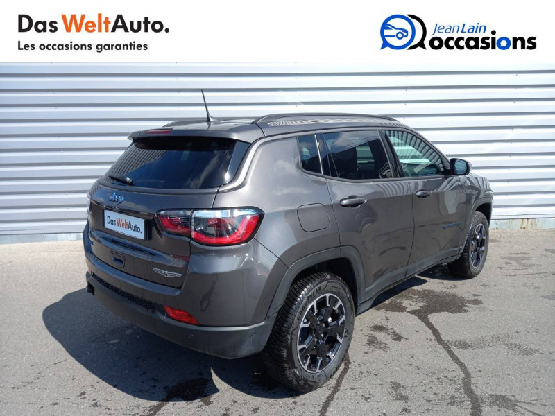 Jeep Compass Compass 1.3 GSE T4 240 ch PHEV AT6 4xe eAWD Trailhawk 5p Gris occasion à Sallanches - photo n°5