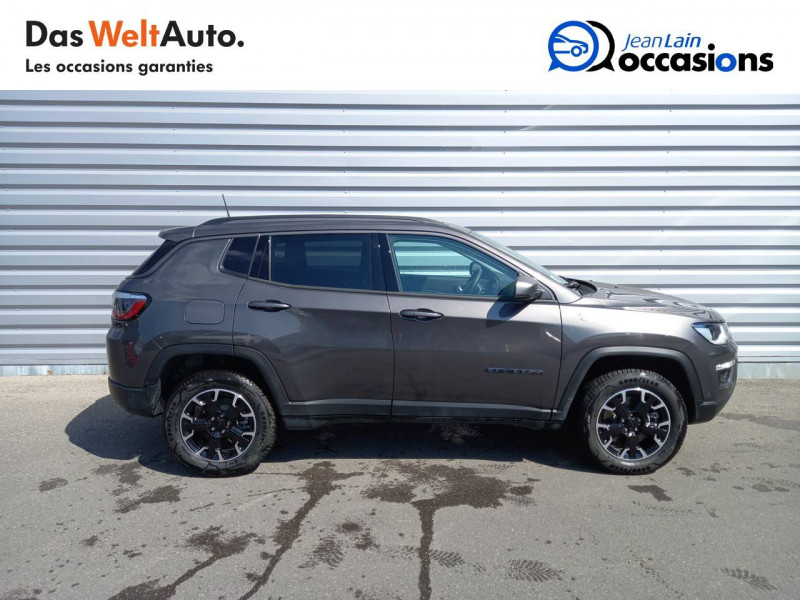 Jeep Compass Compass 1.3 GSE T4 240 ch PHEV AT6 4xe eAWD Trailhawk 5p Gris occasion à Sallanches - photo n°4
