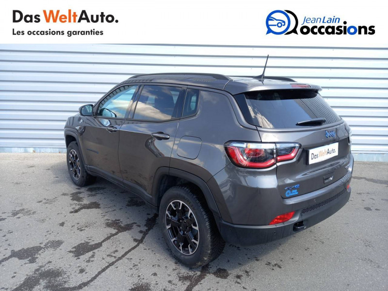 Jeep Compass Compass 1.3 GSE T4 240 ch PHEV AT6 4xe eAWD Trailhawk 5p Gris occasion à Sallanches - photo n°7
