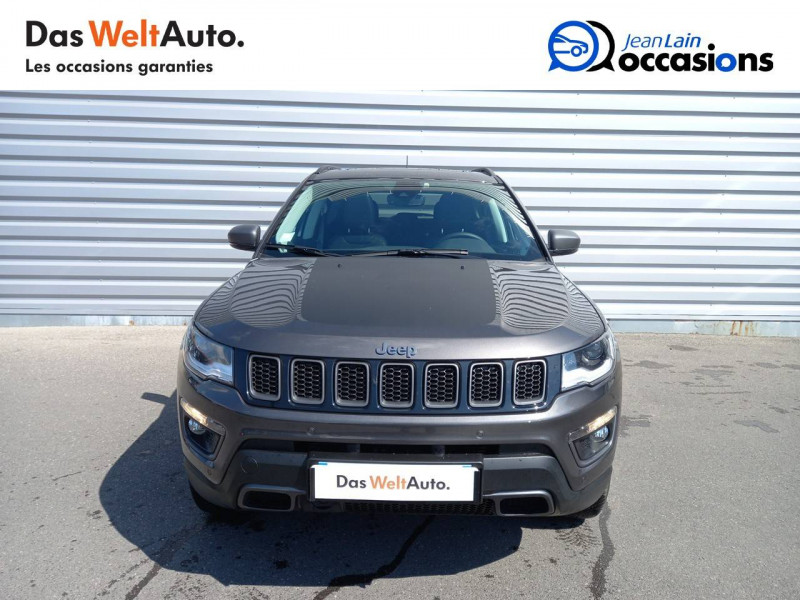 Jeep Compass Compass 1.3 GSE T4 240 ch PHEV AT6 4xe eAWD Trailhawk 5p Gris occasion à Sallanches - photo n°2