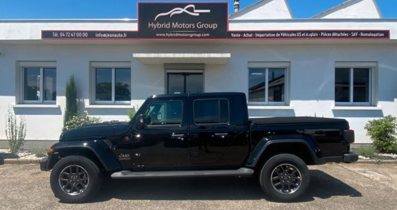 Jeep Gladiator 2021 Overland 3.0L V6 Turbo Diesel bva 8 cuir 76200 ttc Noir occasion à Vénissieux