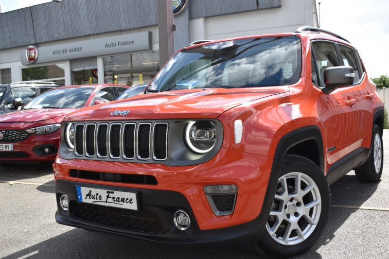 Jeep Renegade 1.0 GSE T3 120CH LIMITED Orange occasion à Neuilly-sur-Marne
