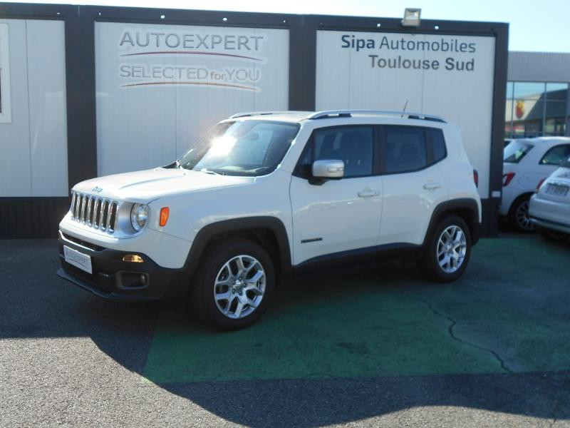 Jeep Renegade 1.4 MultiAir S&S 140ch Limited Blanc occasion à Toulouse