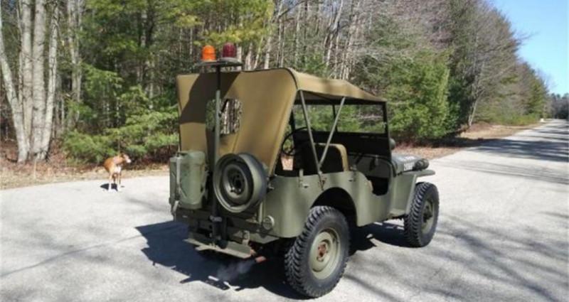 Jeep Willis M38 military police 1947 prix tout compris Vert occasion à PONTAULT COMBAULT - photo n°4