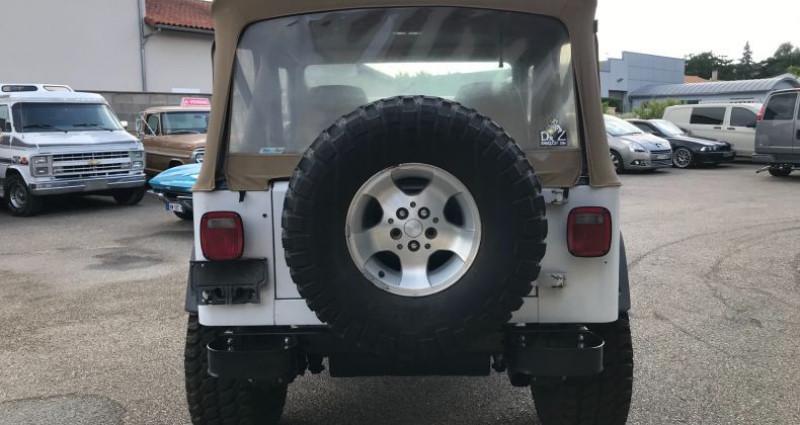 Jeep Wrangler 4,2l 6 Cylindres En France Blanc occasion à SAINT ANDRE DE CORCY - photo n°3