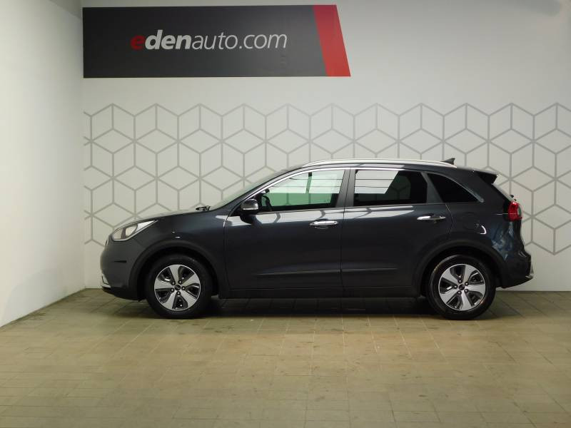 Kia Niro Hybrid 1.6 GDi 105 ch + Electrique 43.5 DCT6 Active Gris occasion à Saint-Laurent-des-Vignes - photo n°3