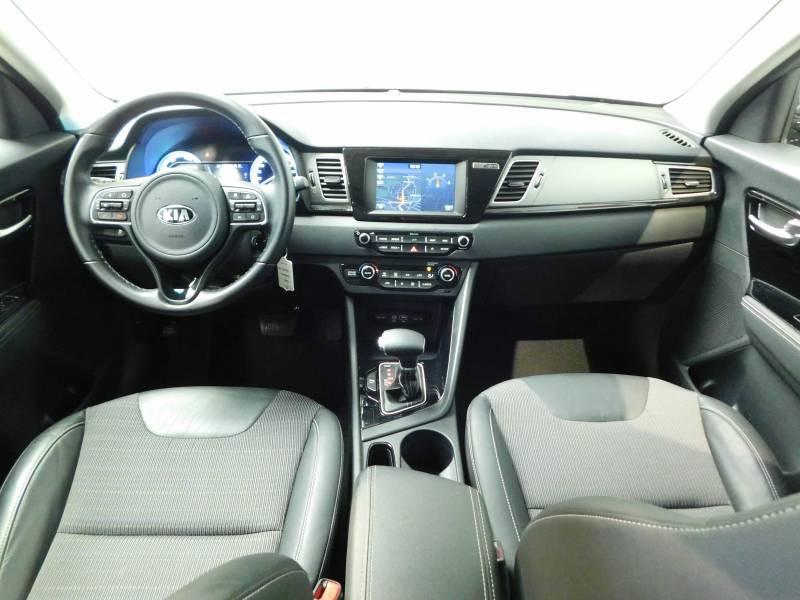 Kia Niro Hybrid 1.6 GDi 105 ch + Electrique 43.5 DCT6 Active Gris occasion à Saint-Laurent-des-Vignes - photo n°5