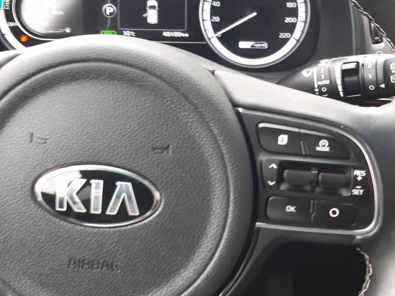 Kia Niro Hybrid 1.6 GDi 105 ch + Electrique 43.5 DCT6 Design Blanc occasion à Saint-Laurent-des-Vignes - photo n°7