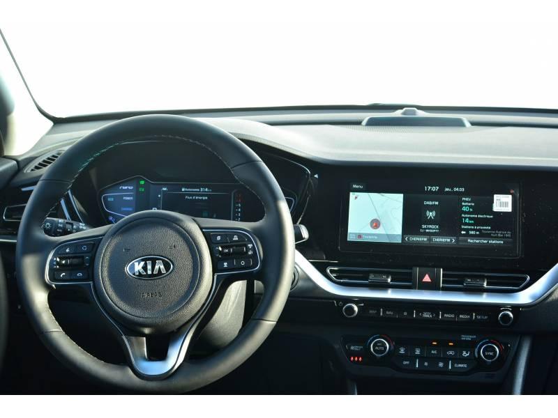 Kia Niro Hybrid Recharg 1.6 GDi 105 ch ISG + Elec 60.5 DCT6 Premium Gris occasion à Toulenne - photo n°7