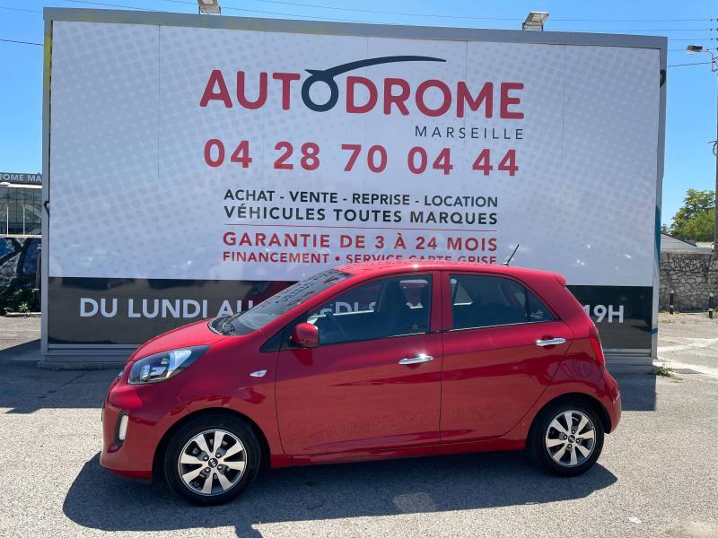 Kia Picanto 1.0 66ch Active 5p - 57 000 Kms Rouge occasion à Marseille 10 - photo n°4