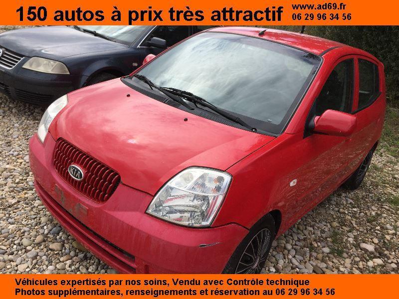 Kia Picanto 1.1 DIESEL 5P Rouge occasion à Saint-Bonnet-de-Mure