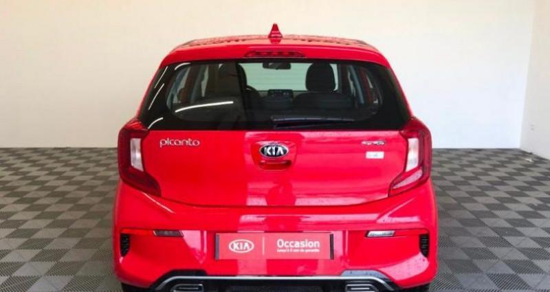 Kia Picanto DPI 84 ISG BVM5 GT LINE Rouge occasion à TOURLAVILLE - photo n°5