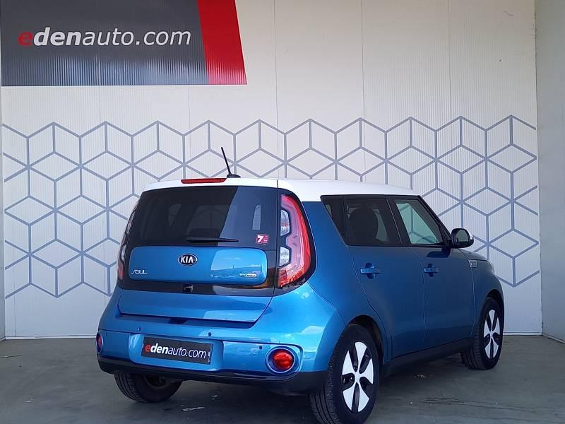 Kia Soul EV Electrique 110 ch Ultimate Bleu occasion à Saint Bazeille - photo n°2