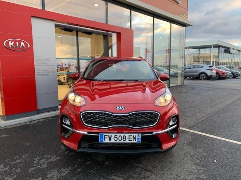 Kia Sportage 1.6 CRDi 115ch MHEV Active 4x2 Rouge occasion à Amilly - photo n°3