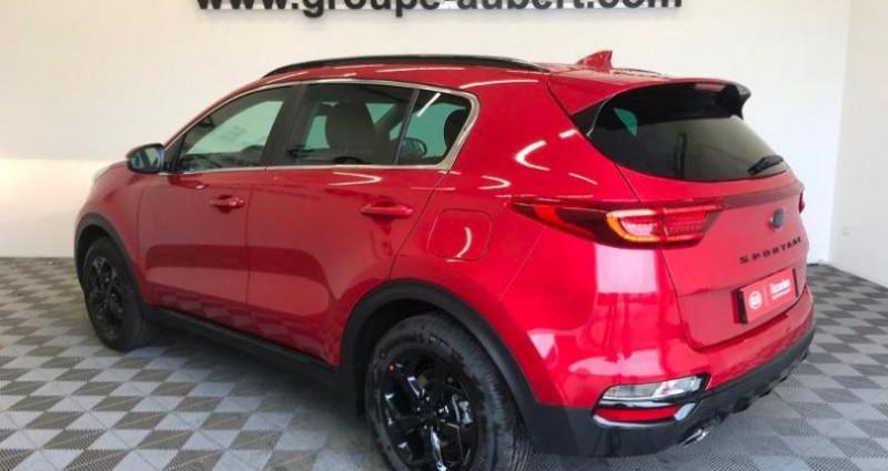 Kia Sportage BLACK ED 136 MHEV DCT 2WD Rouge occasion à TOURLAVILLE - photo n°4