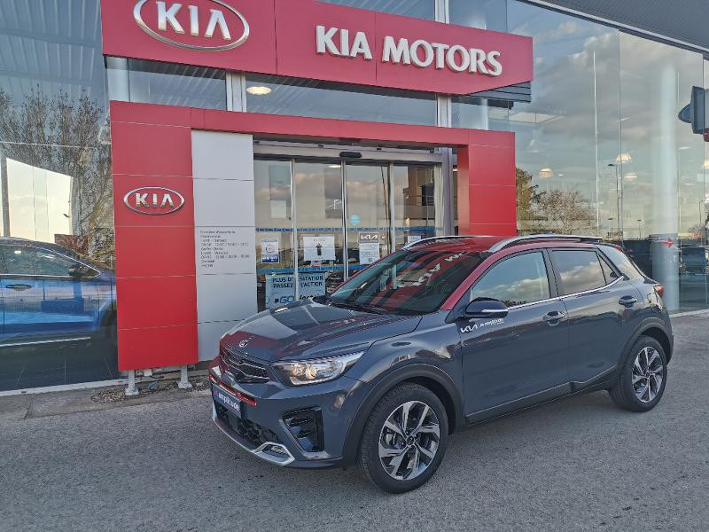 Kia Stonic 1.0 T-GDi 120ch MHEV GT Line DCT7 Gris occasion à Barberey-Saint-Sulpice