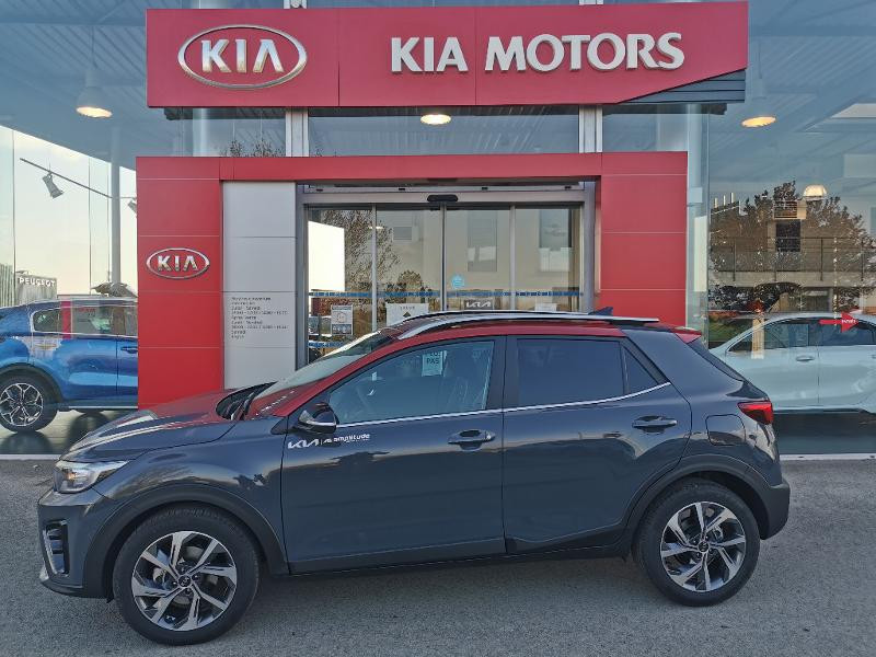Kia Stonic 1.0 T-GDi 120ch MHEV GT Line DCT7 Gris occasion à Barberey-Saint-Sulpice - photo n°5