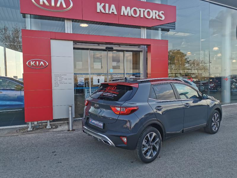 Kia Stonic 1.0 T-GDi 120ch MHEV GT Line DCT7 Gris occasion à Barberey-Saint-Sulpice - photo n°3