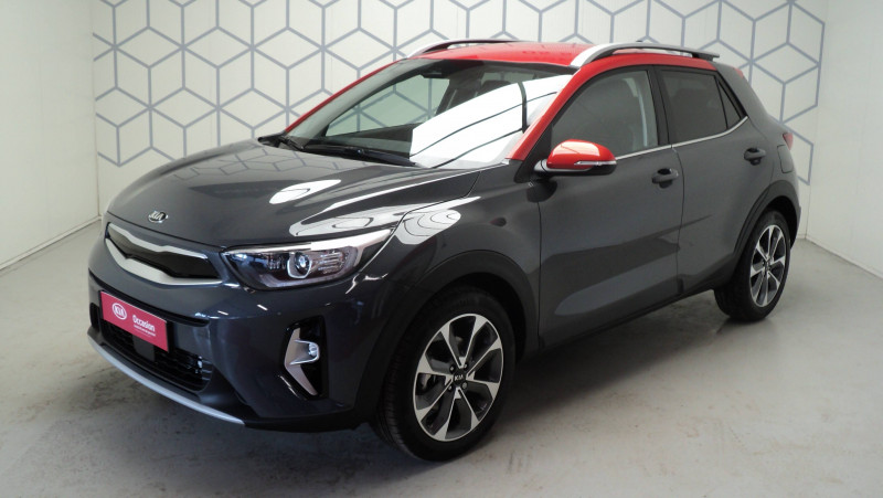 Kia Stonic Stonic 1.0 T-GDi 100ch MHEV iBVM6 Launch Edition 5p Gris occasion à Cahors - photo n°3