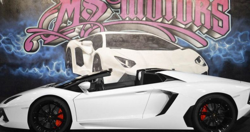 Lamborghini Aventador ROADSTER 6.5 V12 LP 700-4 Blanc occasion à CANNES - photo n°3