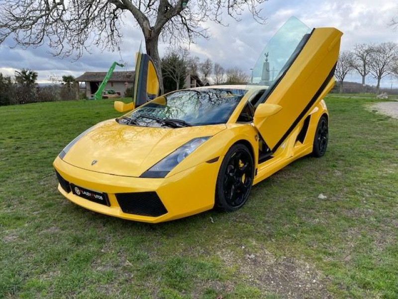 Lamborghini gallardo COUPE 5.0 V10 500 E GEAR Jaune occasion à Vacquiers - photo n°7
