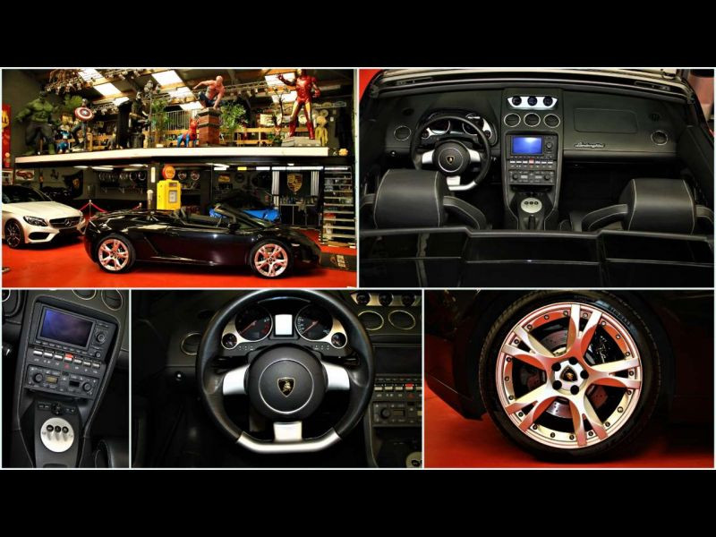 Lamborghini gallardo Spyder 5.0 V10 520 ch Noir occasion à BEAUPUY - photo n°8