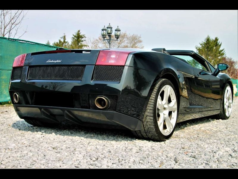 Lamborghini gallardo Spyder 5.0 V10 520 ch Noir occasion à BEAUPUY - photo n°3