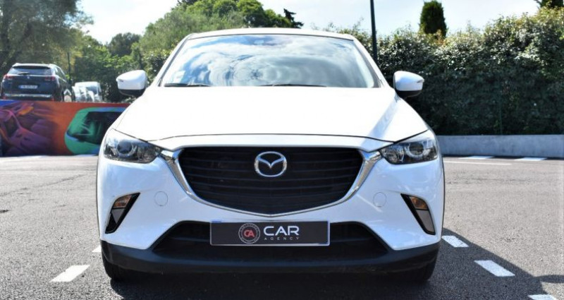 Mazda CX-3 1.5 D 105 Ch GARANTIE Blanc occasion à ANTIBES - photo n°2