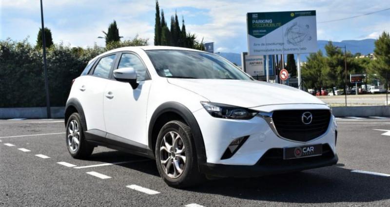 Mazda CX-3 1.5 D 105 Ch GARANTIE Blanc occasion à ANTIBES - photo n°3